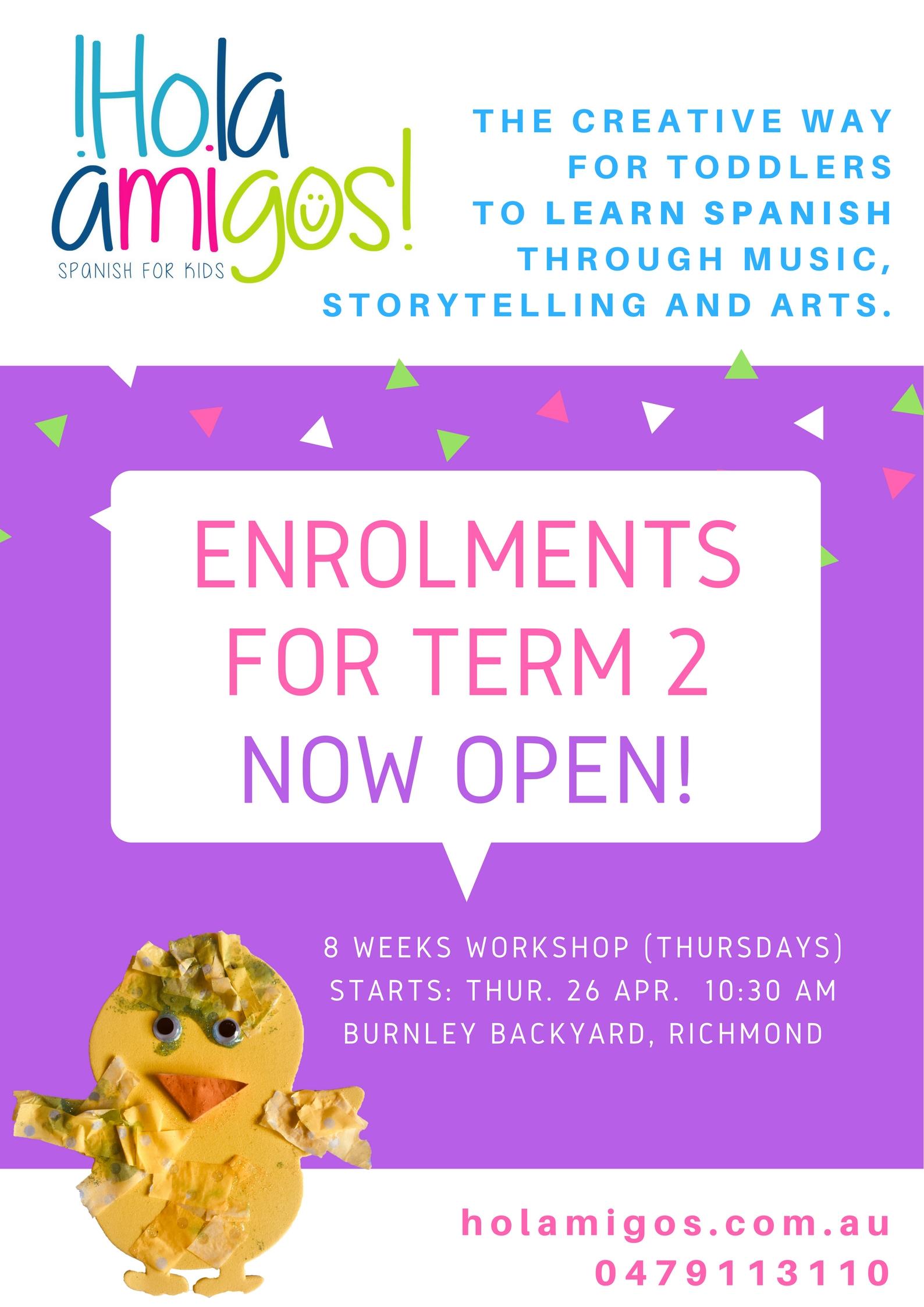 Richmond community learning centre holamigos spanish language spanish language class for kids m4hsunfo
